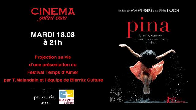 PINA de Wim Wenders en représentation unique à Getari Enea le 18 août